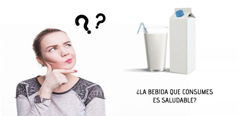 Que leche o bebida es saludable para tu salud