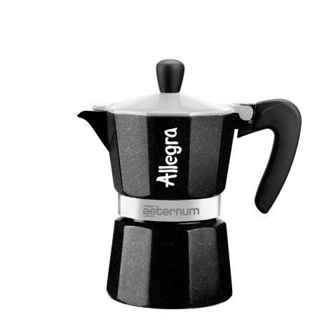 Cafetera Italiana Allegra negra 3 tazas
