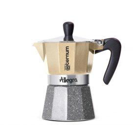 Cafetera italiana Preziosa Platino 3 tazas