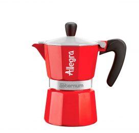 Cafetera italiana Allegra roja 3 tazas