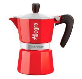 Cafetera Italiana Allegra roja 6 tazas