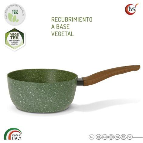Cacerola italiana con recubrimiento vegetal antiadherente marca TVS