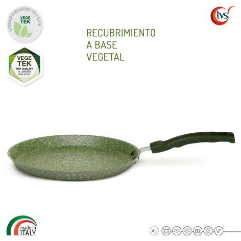 Crepera italiana con recubrimiento vegetal antiadherente marca TVS