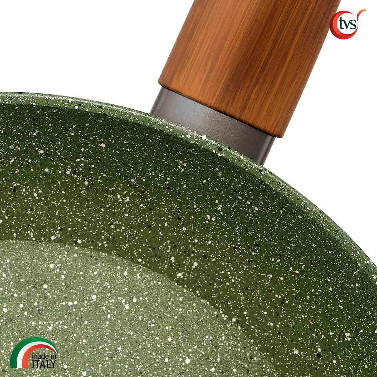 Sartén italiana de aluminio con recubrimiento vegetal ecológica marca TVS