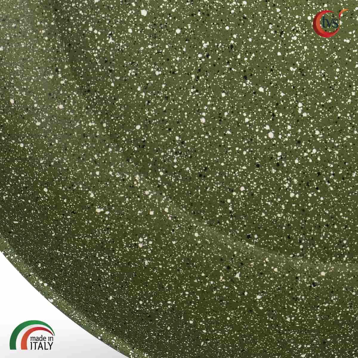 Sartén italiana de aluminio con recubrimiento vegetal antiadherente ecológica marca TVS