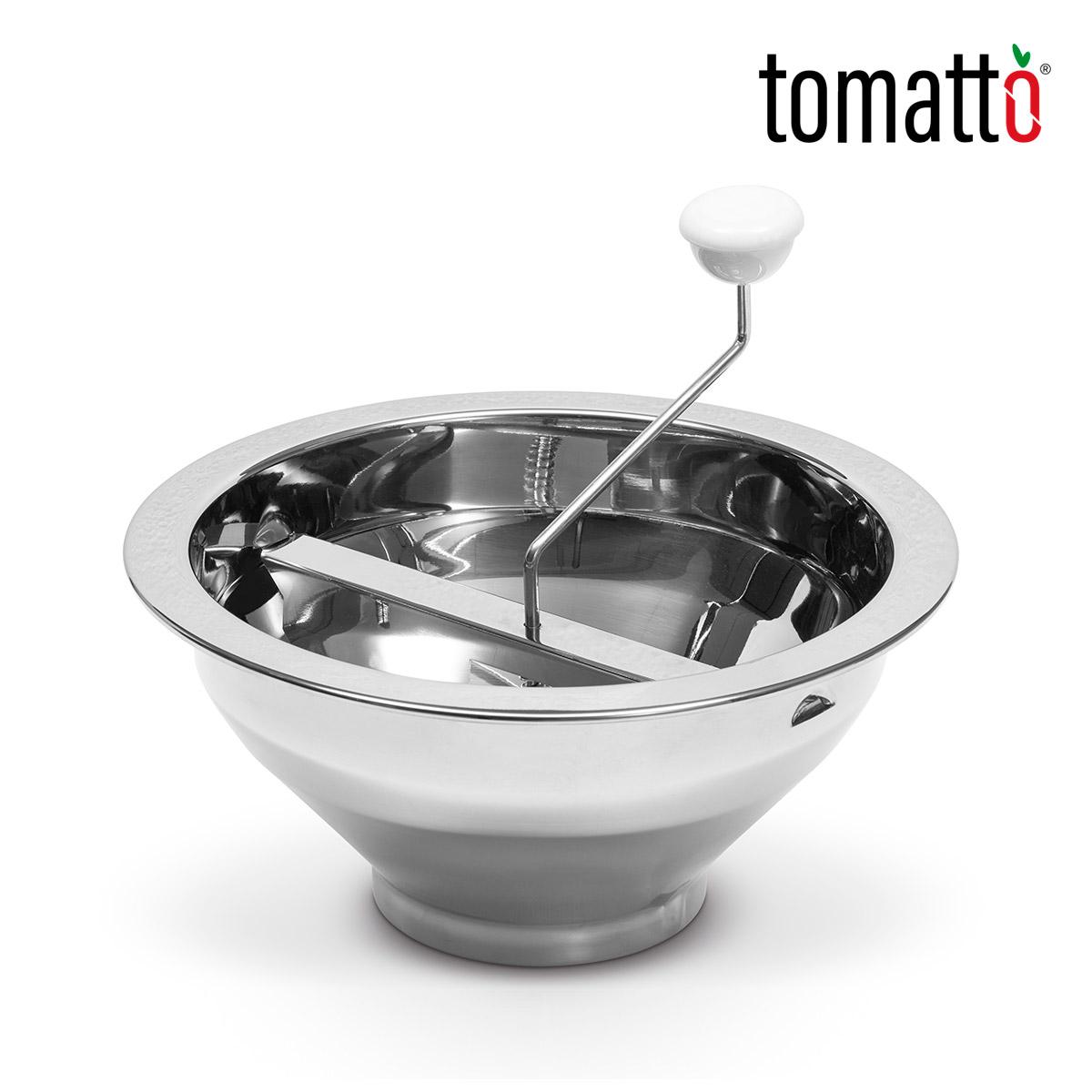 Pasaverduras Profesional de Acero Inoxidable Marca Italiana Tomatto